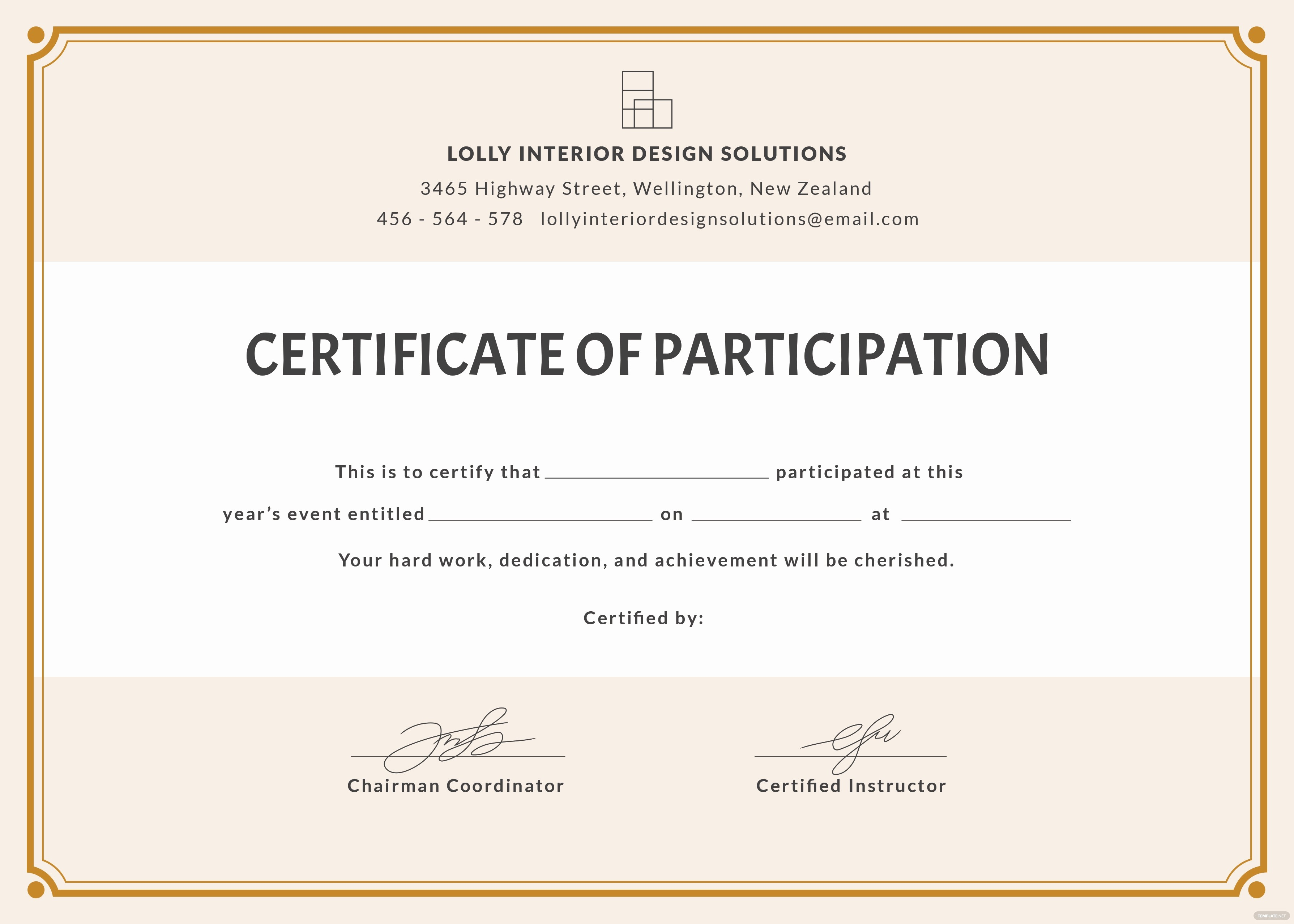 Blank Certificate Templates for Word Inspirational Free Blank Participation Certificate Template In Psd Ms