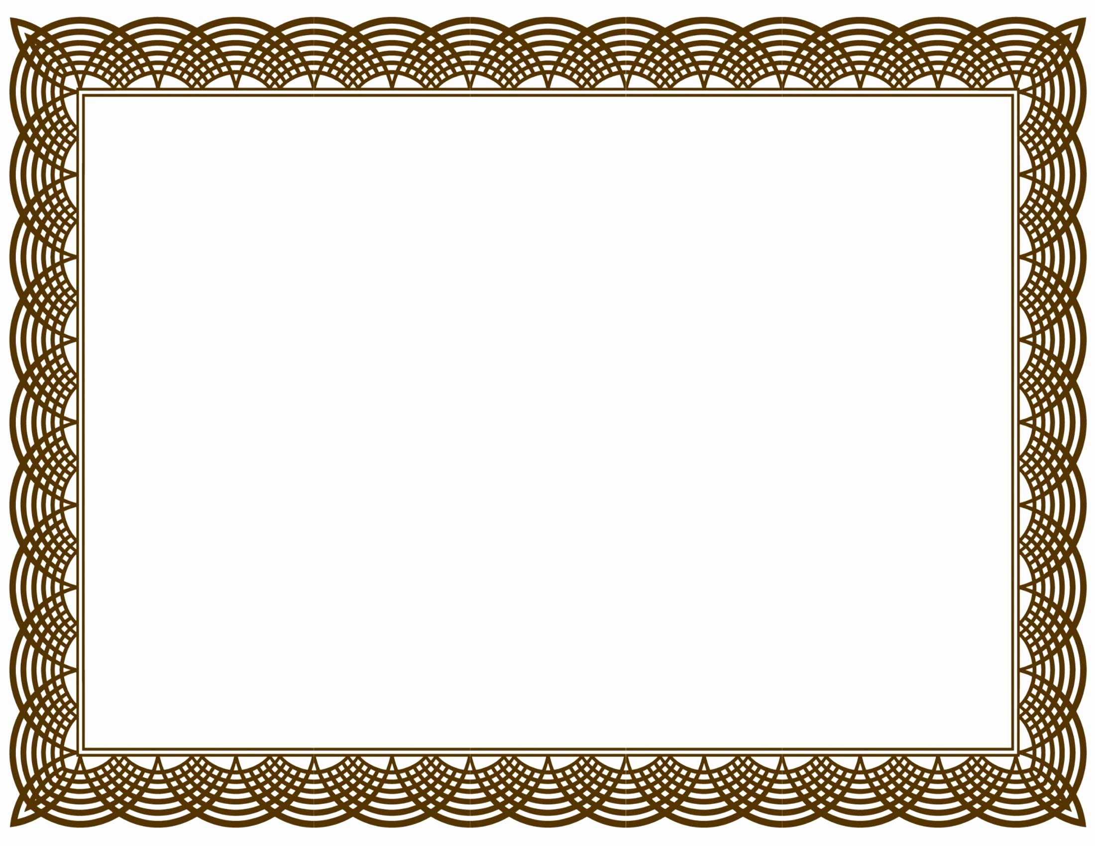 Blank Certificate Templates for Word Luxury Award Templates Word Example Mughals