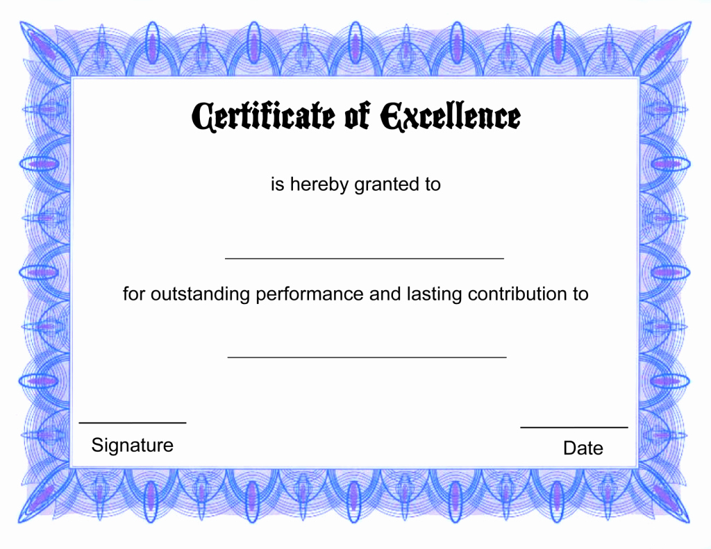 Blank Certificate Templates for Word Luxury Blank Certificate Templates Kiddo Shelter
