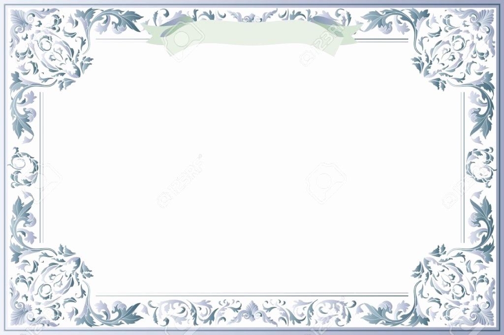 Blank Certificate Templates for Word Luxury Vector Printable Blank Certificates