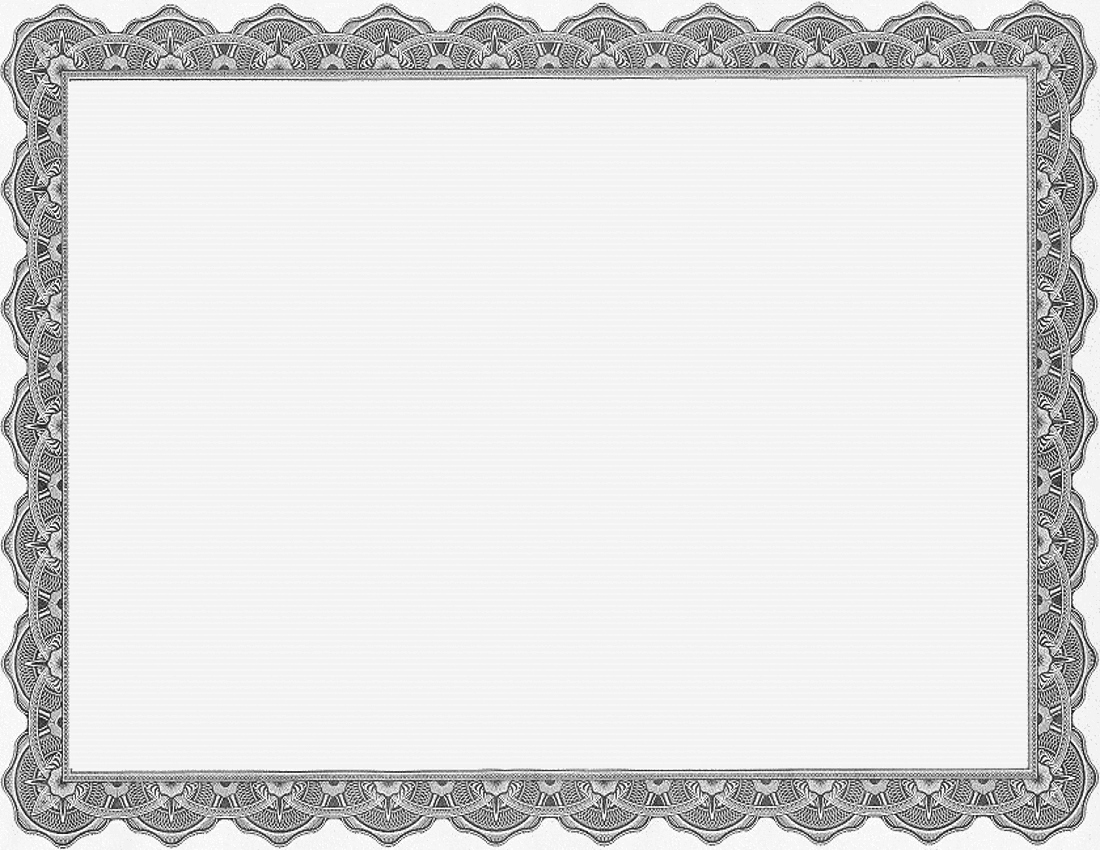 Blank Certificate Templates for Word New Blank Gray Business Certificate Templates Printable