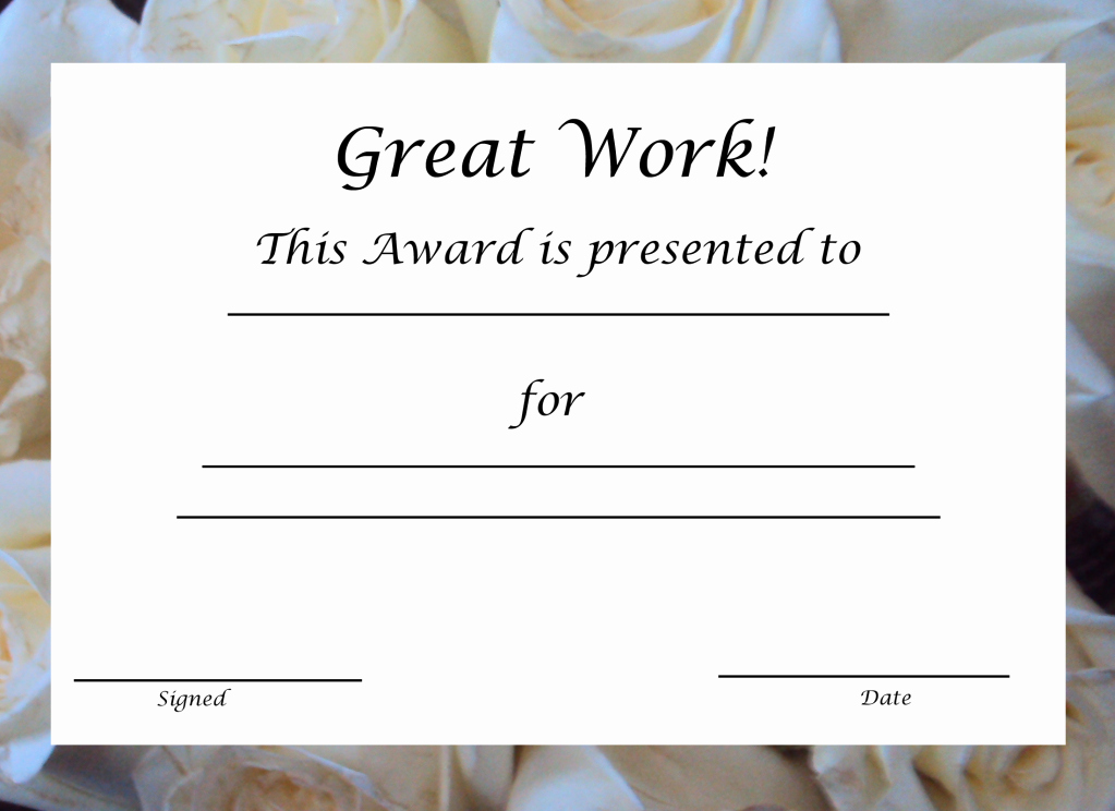 Blank Certificate Templates for Word Unique 29 Printable Award themes Certificates