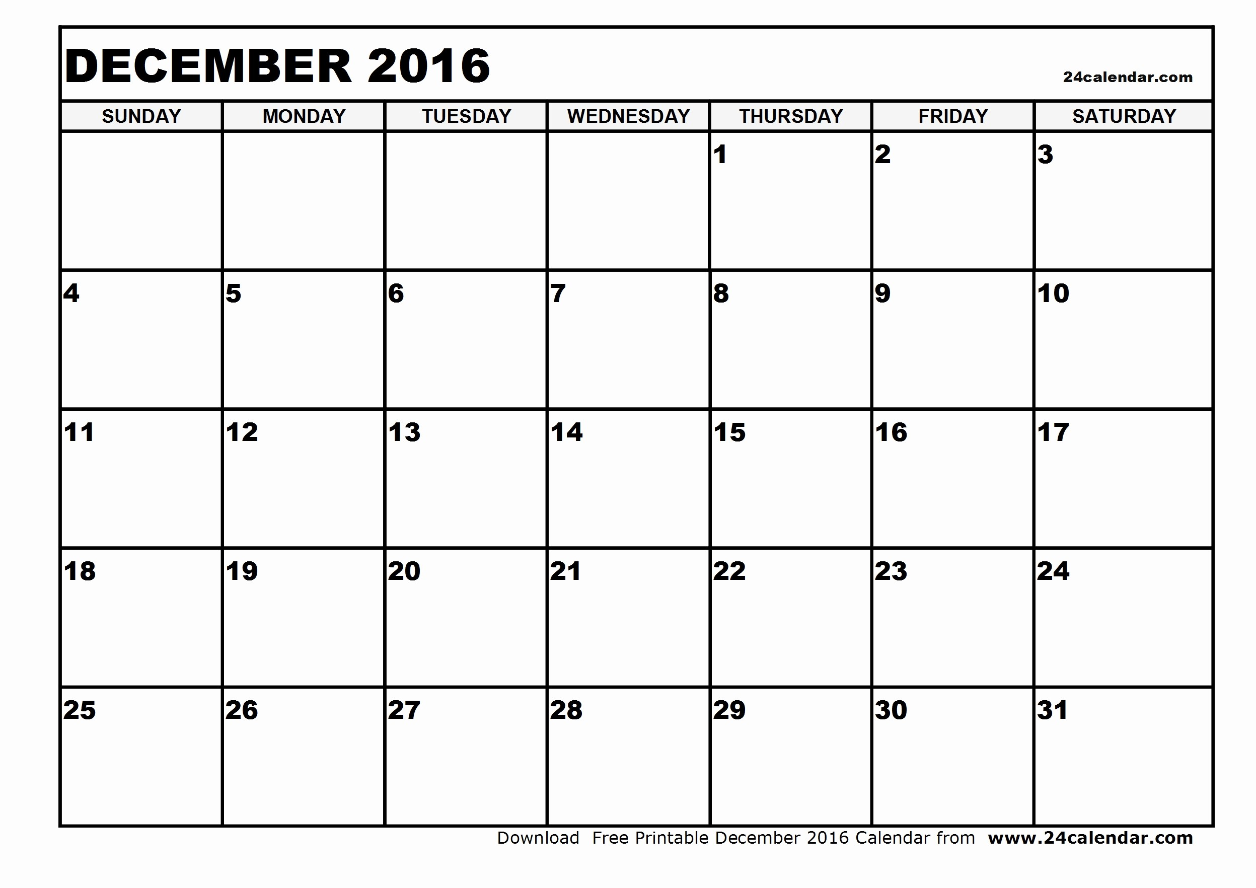 Blank December Calendar 2016 Printable Best Of Blank December 2016 Calendar In Printable format