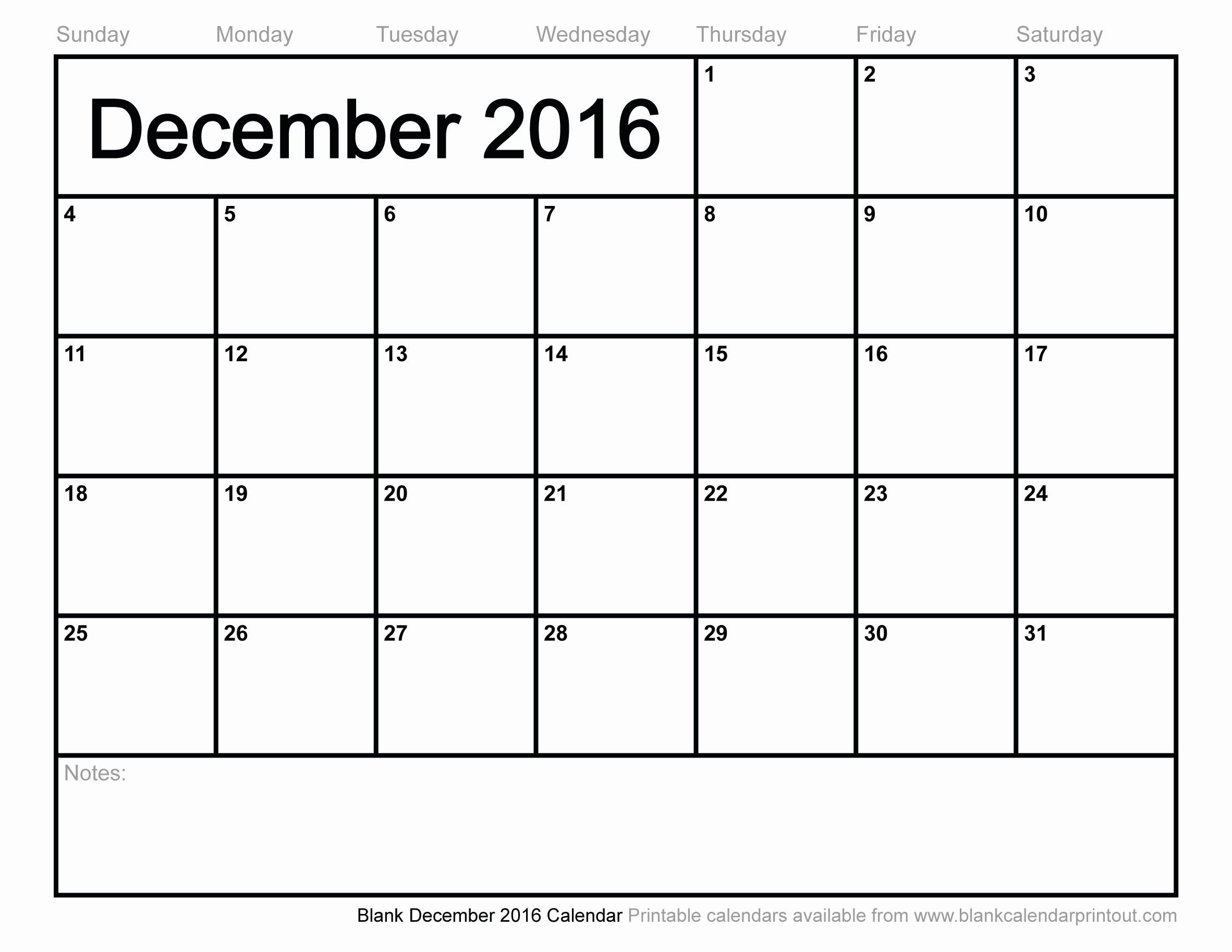 Blank December Calendar 2016 Printable Best Of Blank December 2016 Calendar to Print