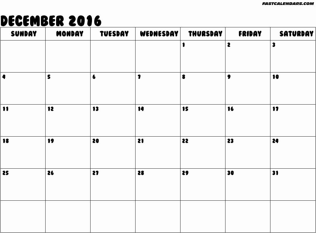 "Blank December Calendar 2016 Printable Best Of Search Results for ""blank December 2014 Monthly Calendar"