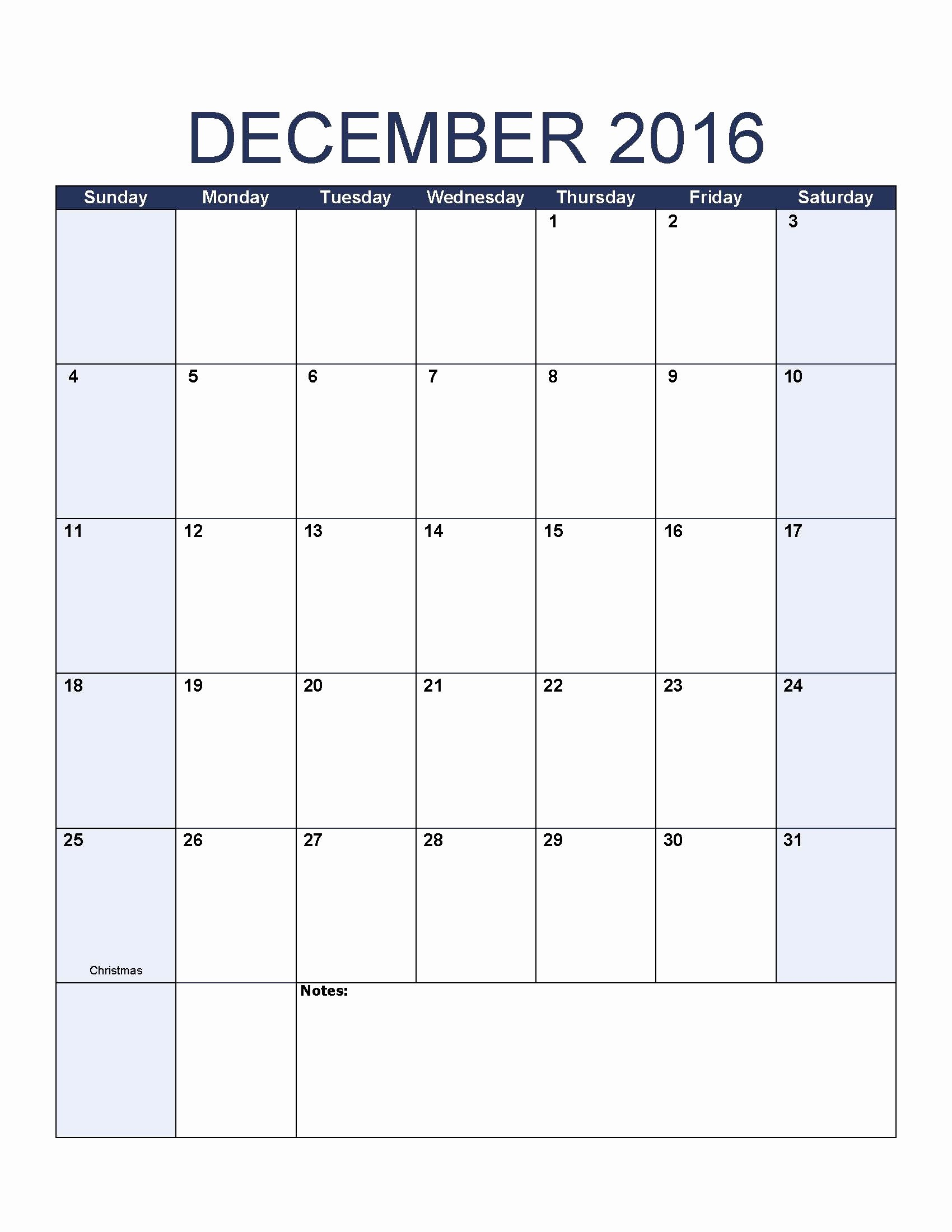 Blank December Calendar 2016 Printable Elegant Blank December 2016 Calendar to Print