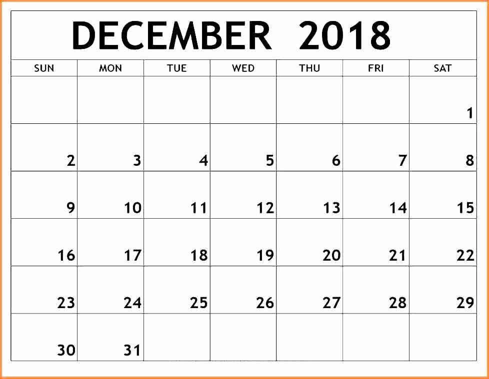 Blank December Calendar 2016 Printable Elegant December Printable Calendar 2018