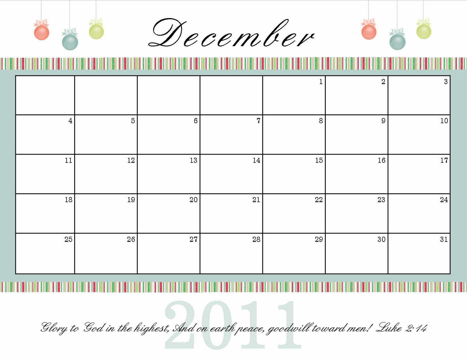 Blank December Calendar 2016 Printable Inspirational Christmas December 2016 Calendar