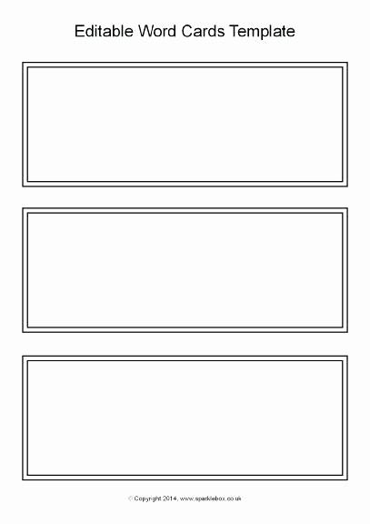 Blank Flashcard Template Microsoft Word Unique Task Card Template Printable Blank Flash Word Microsoft