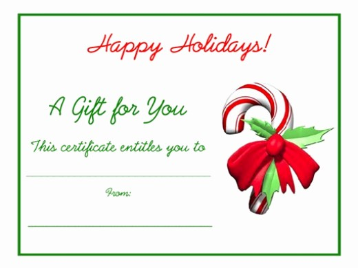 Blank Gift Certificates to Print Awesome Free Printable Certificate Templates for Gifts for