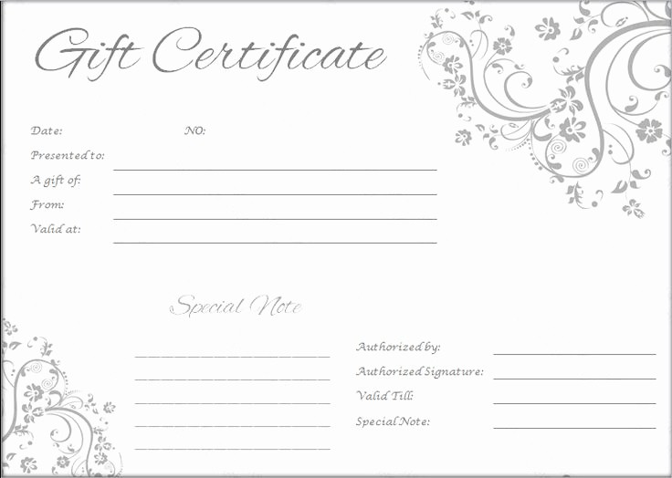 Blank Gift Certificates to Print Beautiful the 25 Best Printable T Certificates Ideas On