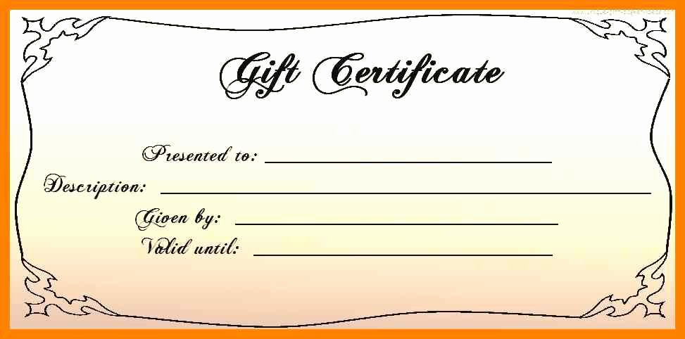 Blank Gift Certificates to Print Best Of Gift Certificate Template Free Printableee Templates