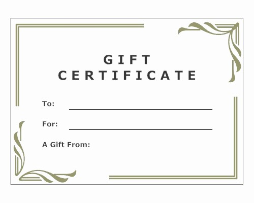 Blank Gift Certificates to Print Elegant for Women Julia Blank Image Consultant