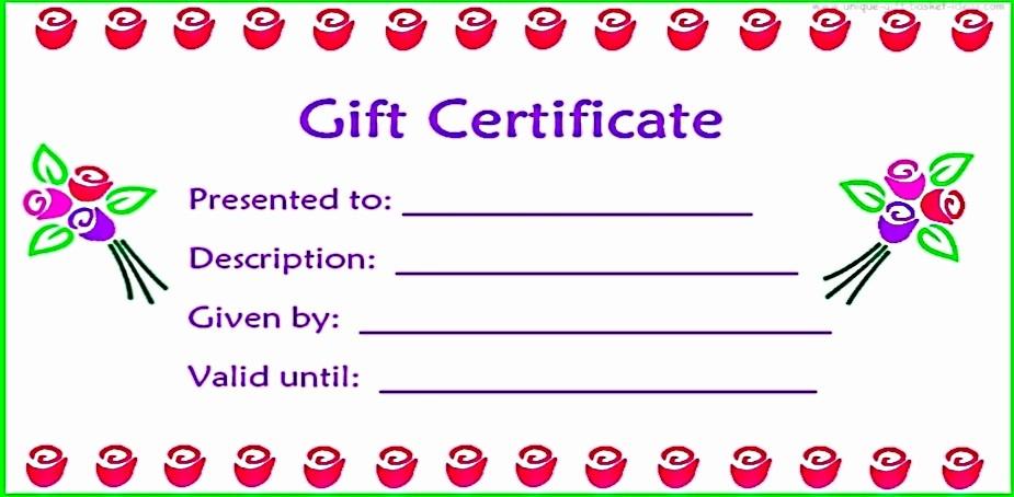 Blank Gift Certificates to Print Elegant Free Printable Blank Gift Certificates
