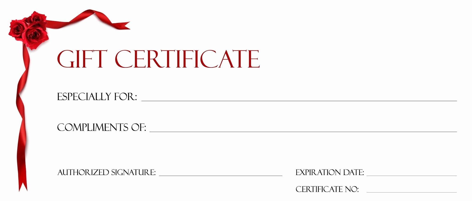 Blank Gift Certificates to Print Elegant Gift Certificate Template for Kids Blanks