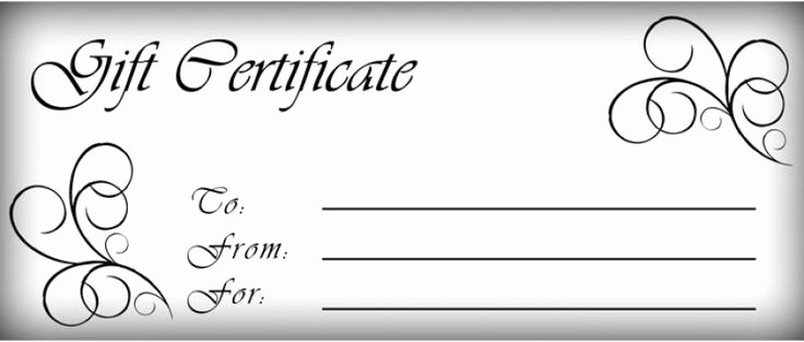 Blank Gift Certificates to Print Fresh New Editable Gift Certificate Templates