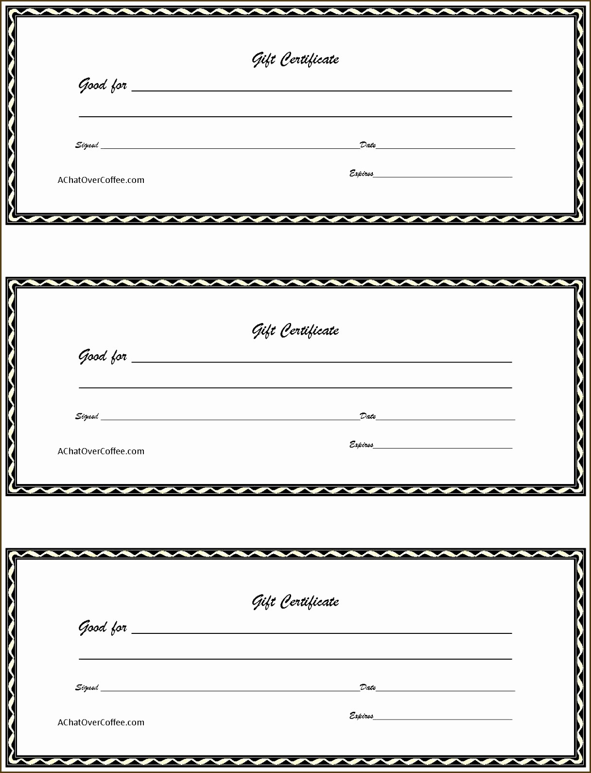 Blank Gift Certificates to Print Inspirational 20 Free Gift Certificate Template