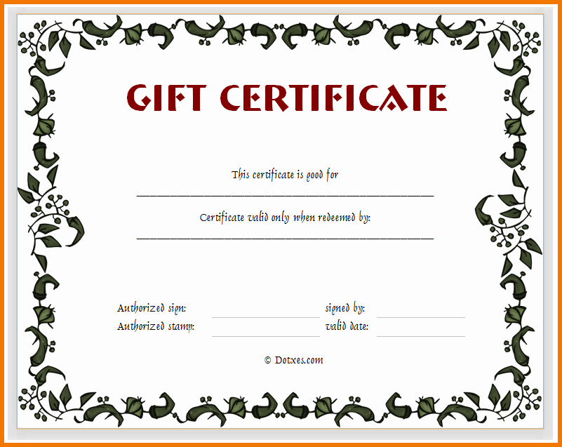 Blank Gift Certificates to Print Luxury Blank Printable Gift Certificate Gift Ftempo