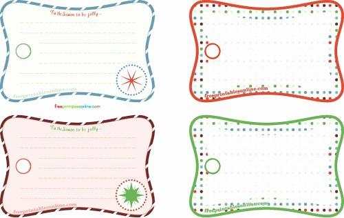 Blank Gift Tag Template Word Awesome Tis the Season Free Printable Christmas Gift Tags