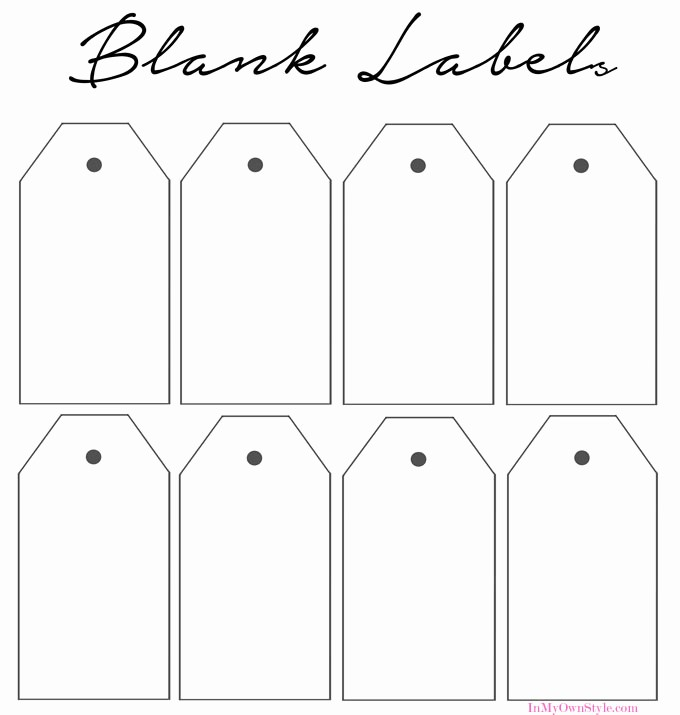 Blank Gift Tag Template Word Best Of How to organize In Style Using Dollar Store Baskets