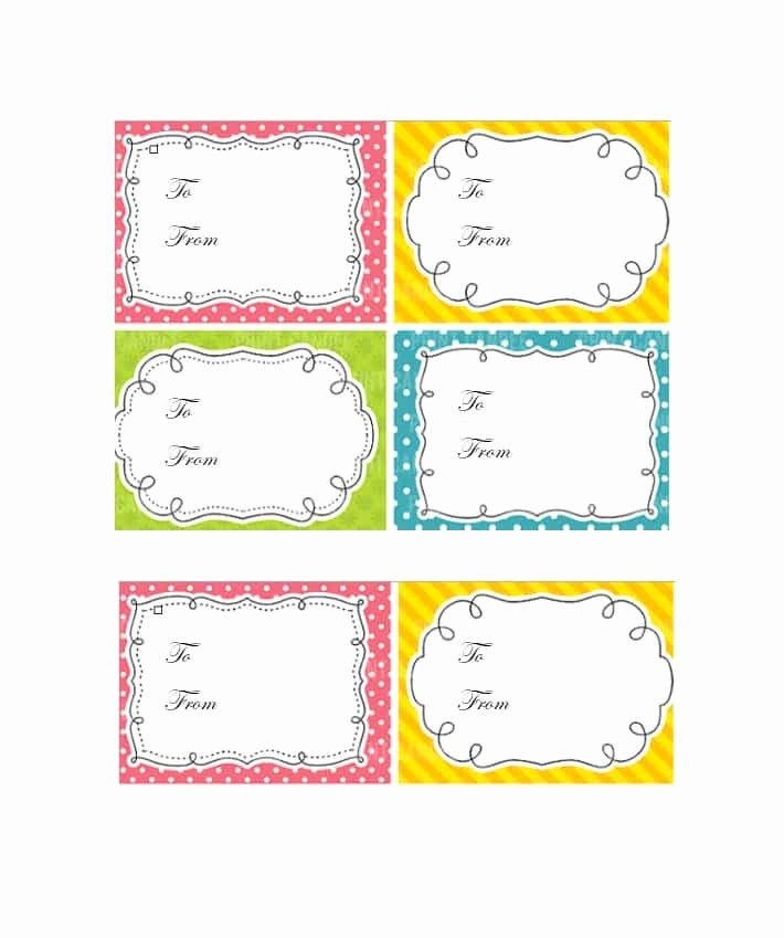 Blank Gift Tag Template Word Fresh 44 Free Printable Gift Tag Templates Template Lab
