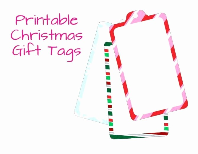 Blank Gift Tag Template Word Fresh Free Printable Christmas Gift Tag Templates for Word