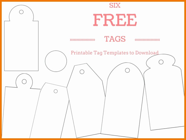 Blank Gift Tag Template Word Lovely Free Printable Gift Tag Templates for Word