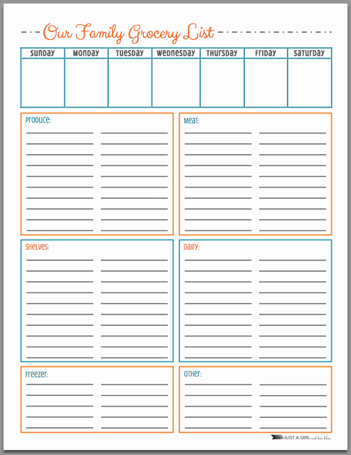 Blank Grocery List with Categories Fresh Free Grocery List Printables 3 Colors Mom 4 Real