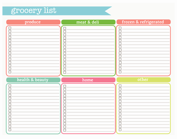 Blank Grocery List with Categories Luxury Check Out these Printables I M Going to Use From the