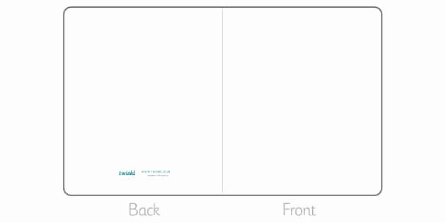 Blank Half Fold Card Template Best Of Blank Greeting Card Template Blank Greeting Card Template
