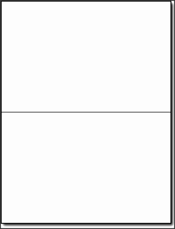 Blank Half Fold Card Template Fresh 8 Half Fold Card Template Microsoft Word