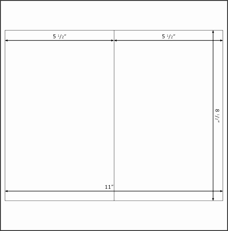 Blank Half Fold Card Template Lovely 6 Half Fold Card Template Word Sampletemplatess