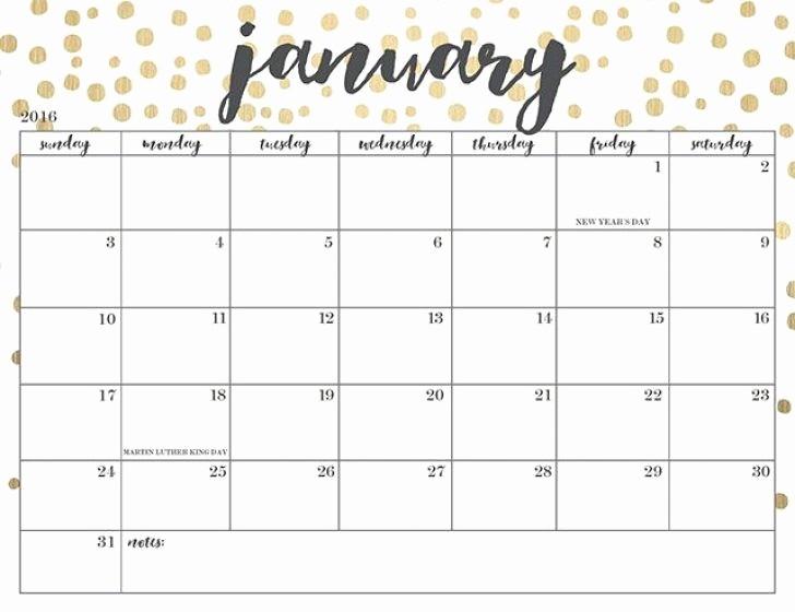 Blank January 2018 Calendar Printable Awesome Cute Printable Calendars 2018 Monthly Free