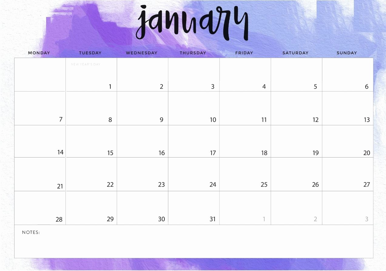 Blank January 2019 Calendar Template Best Of January 2019 Desk Calendar Printable Template Planner