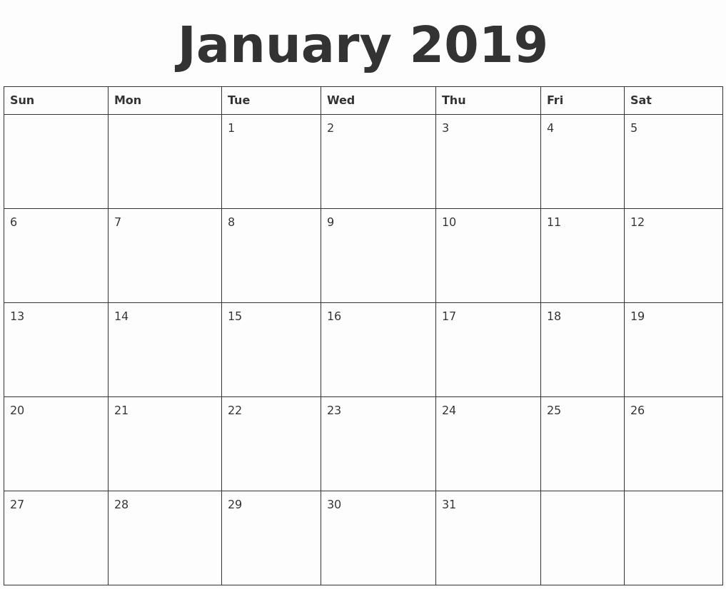 Blank January 2019 Calendar Template Best Of March 2019 Print A Calendar