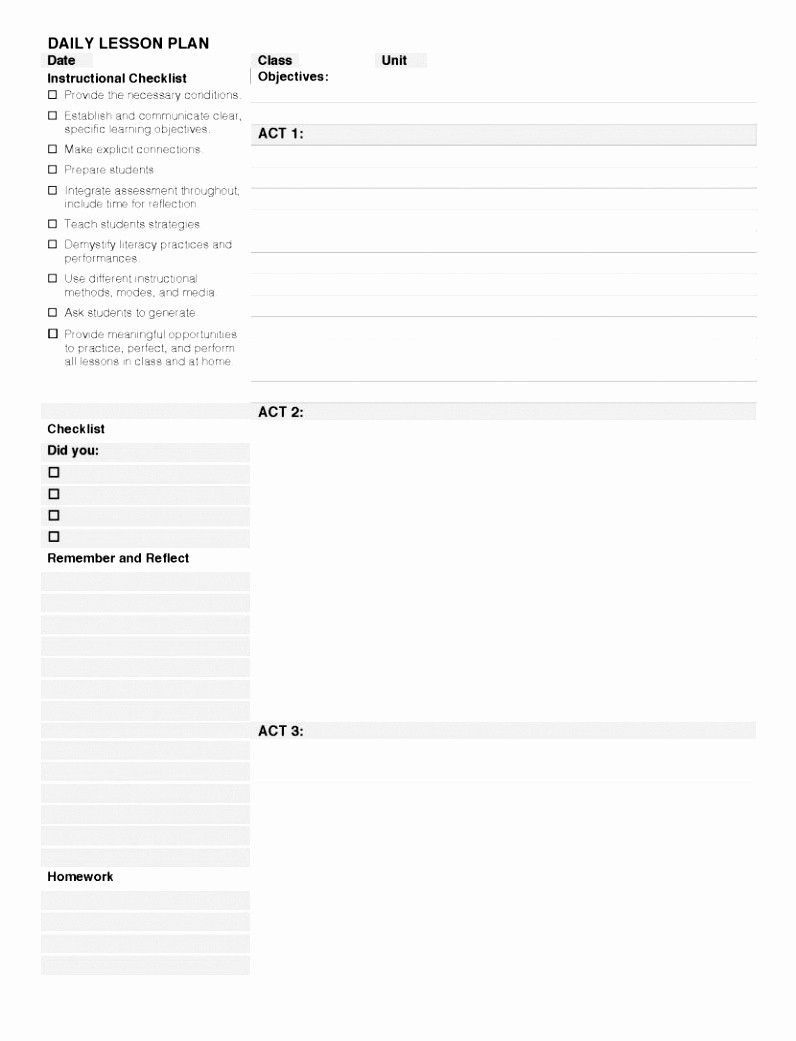 Blank Lesson Plan Template Word Best Of 12 Blank Lesson Plan Template High School Peyuo