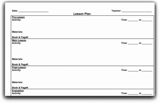 Blank Lesson Plan Template Word Inspirational Monthly Lesson Plan Template Word Templates Data
