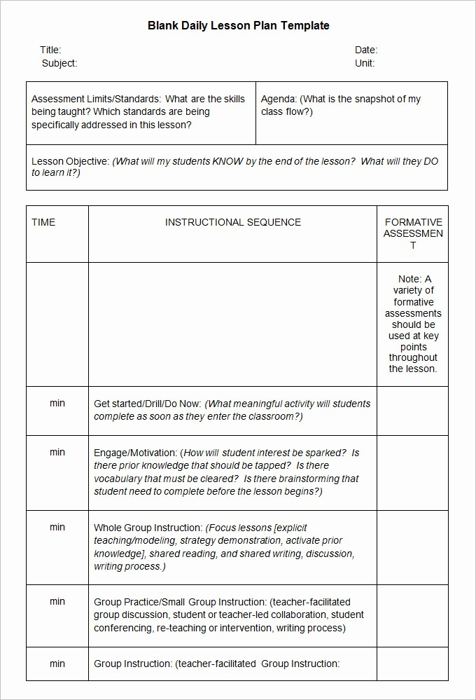 Blank Lesson Plan Template Word Lovely Blank Lesson Plan Template 3 Free Word Documents