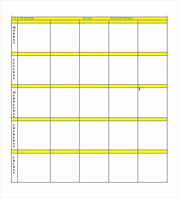 Blank Lesson Plan Template Word Luxury Blank Lesson Plan Template – 15 Free Pdf Excel Word