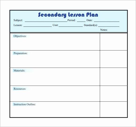 Blank Lesson Plan Template Word Unique 10 Sample Lesson Plans