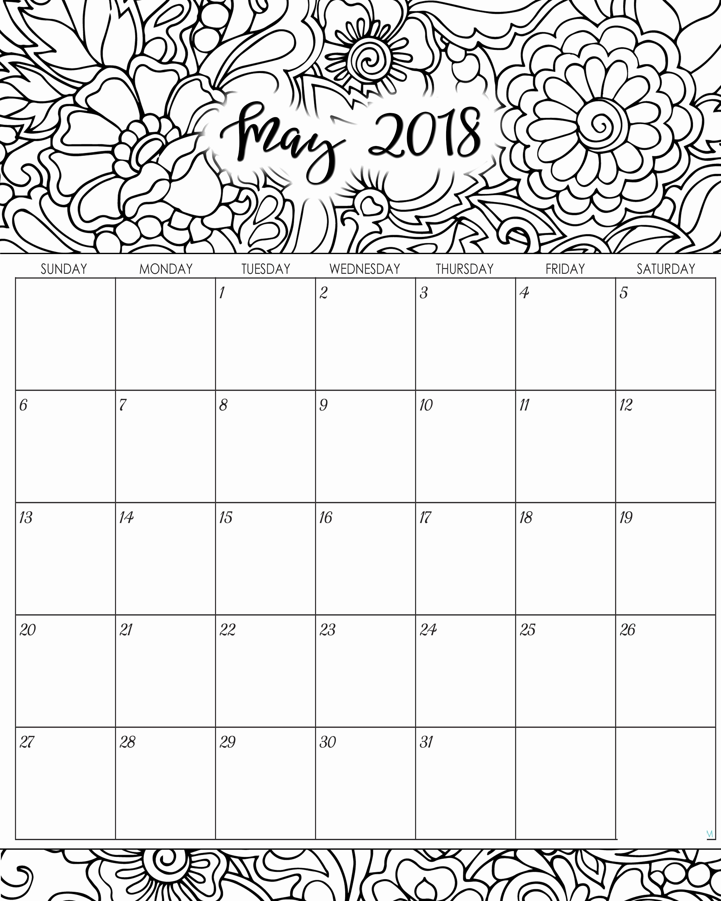 Blank May 2018 Calendar Printable Fresh Blank May 2019 Calendar Free Hd