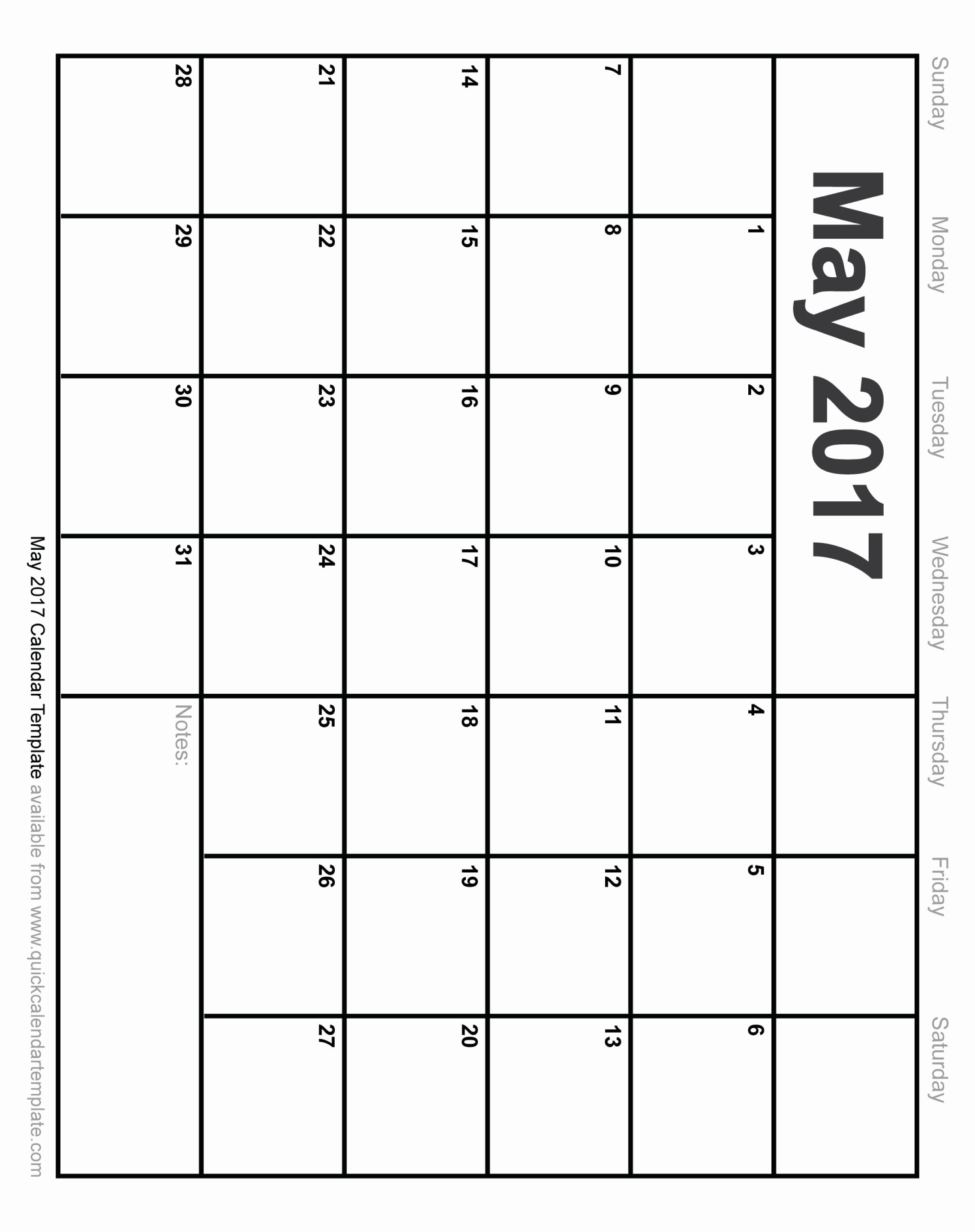 Blank May Calendar 2017 Printable Awesome Free Printable May 2017 Calendar