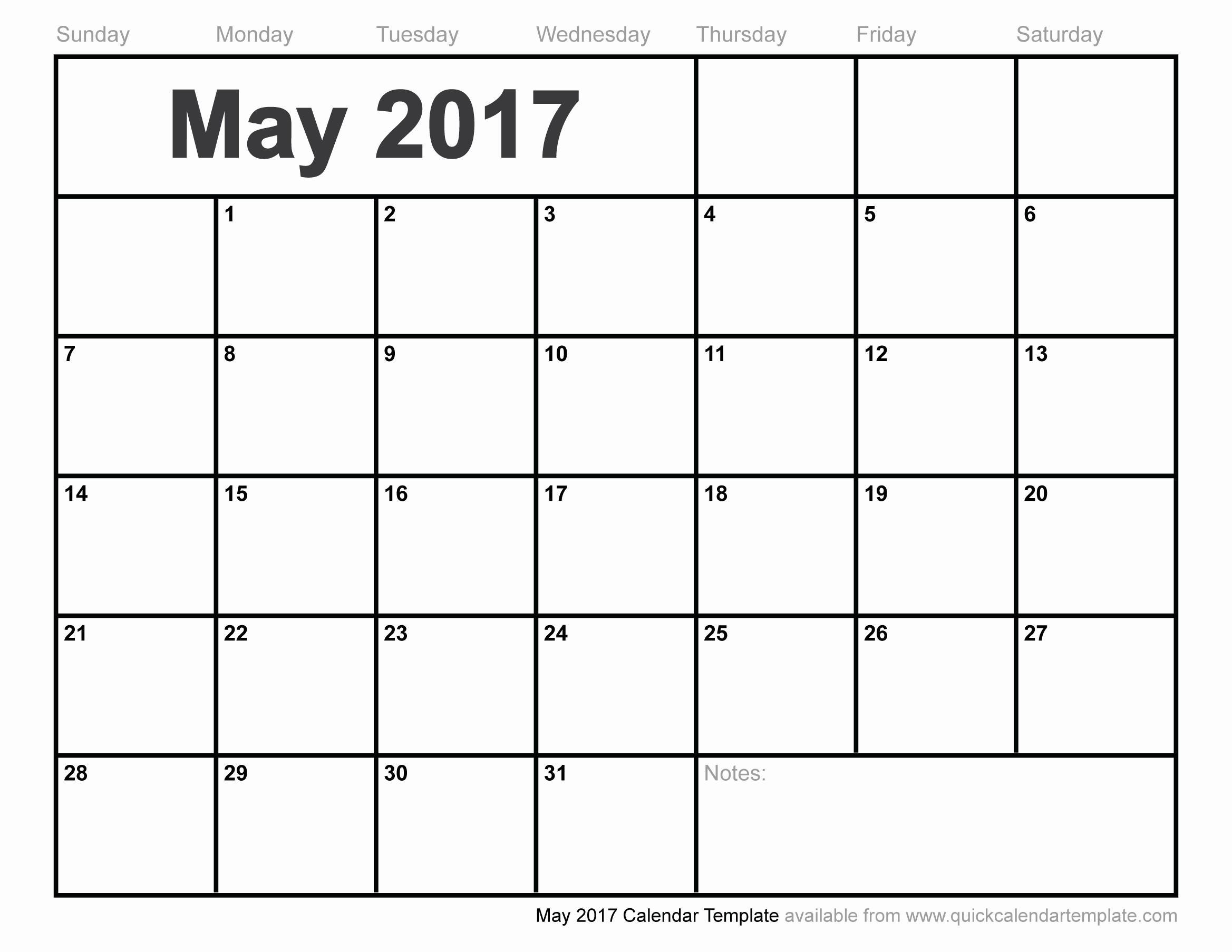 Blank May Calendar 2017 Printable Beautiful Blank May 2017 Calendar