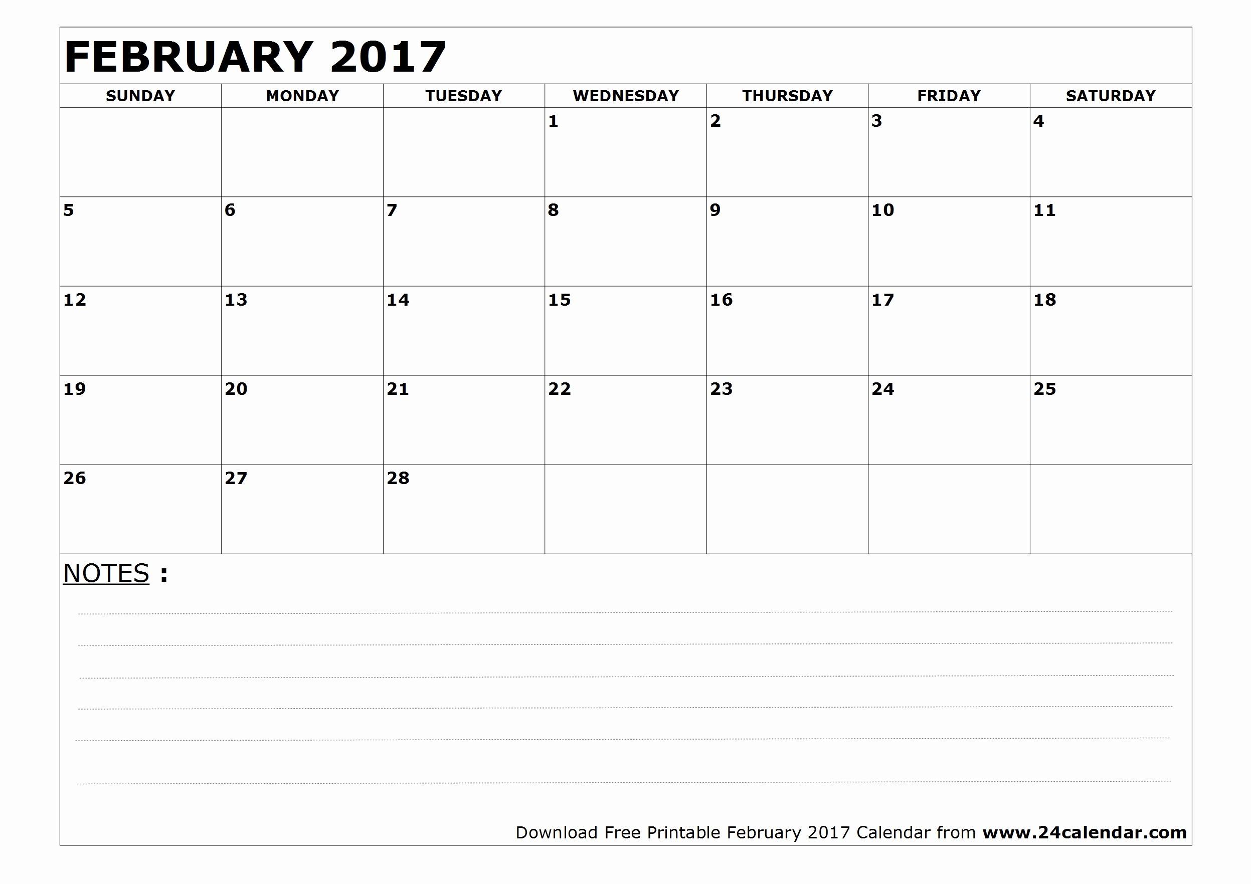 Blank May Calendar 2017 Printable Best Of Blank February 2017 Calendar In Printable format