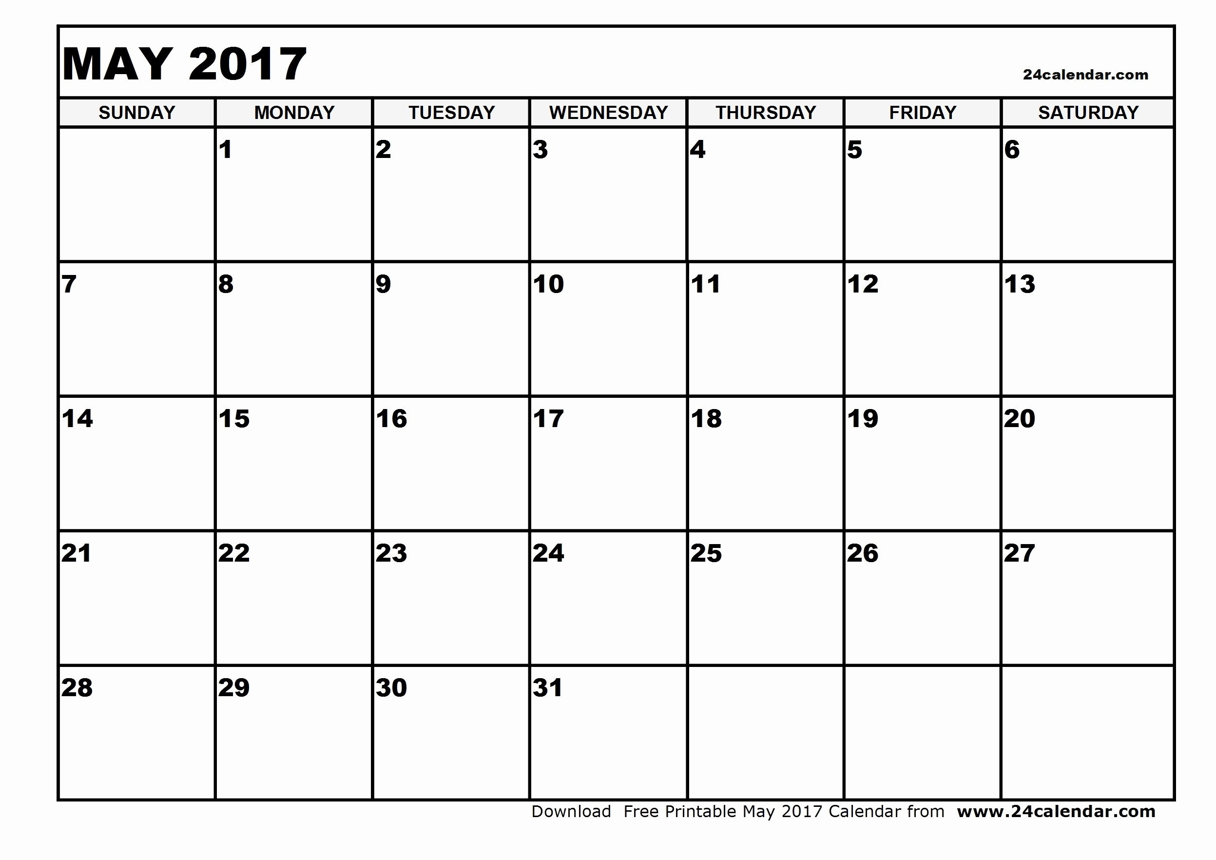 Blank May Calendar 2017 Printable Elegant Print A Blank Calendar May 2017 2018 Calendar Template