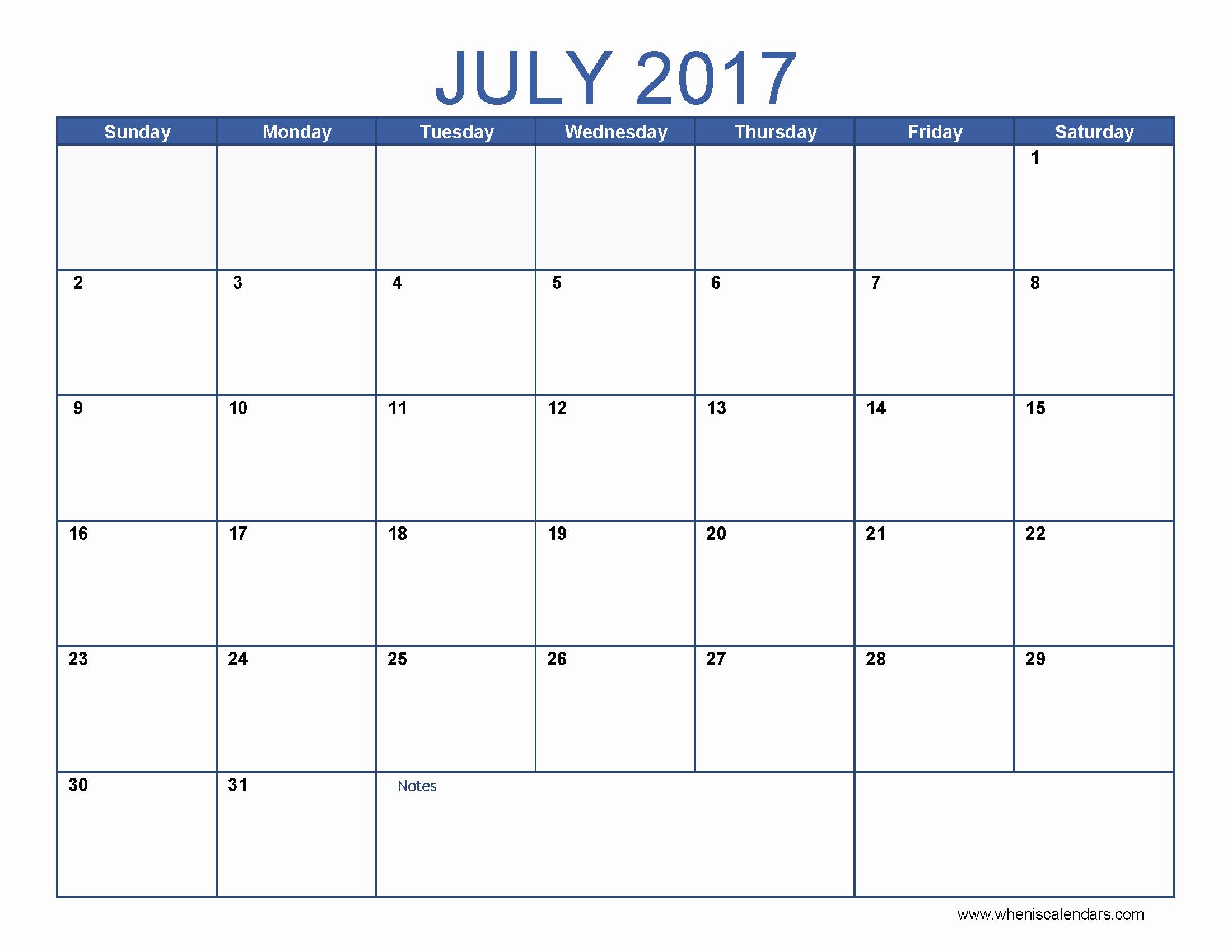 Blank May Calendar 2017 Printable Fresh Blank July 2017 Calendar