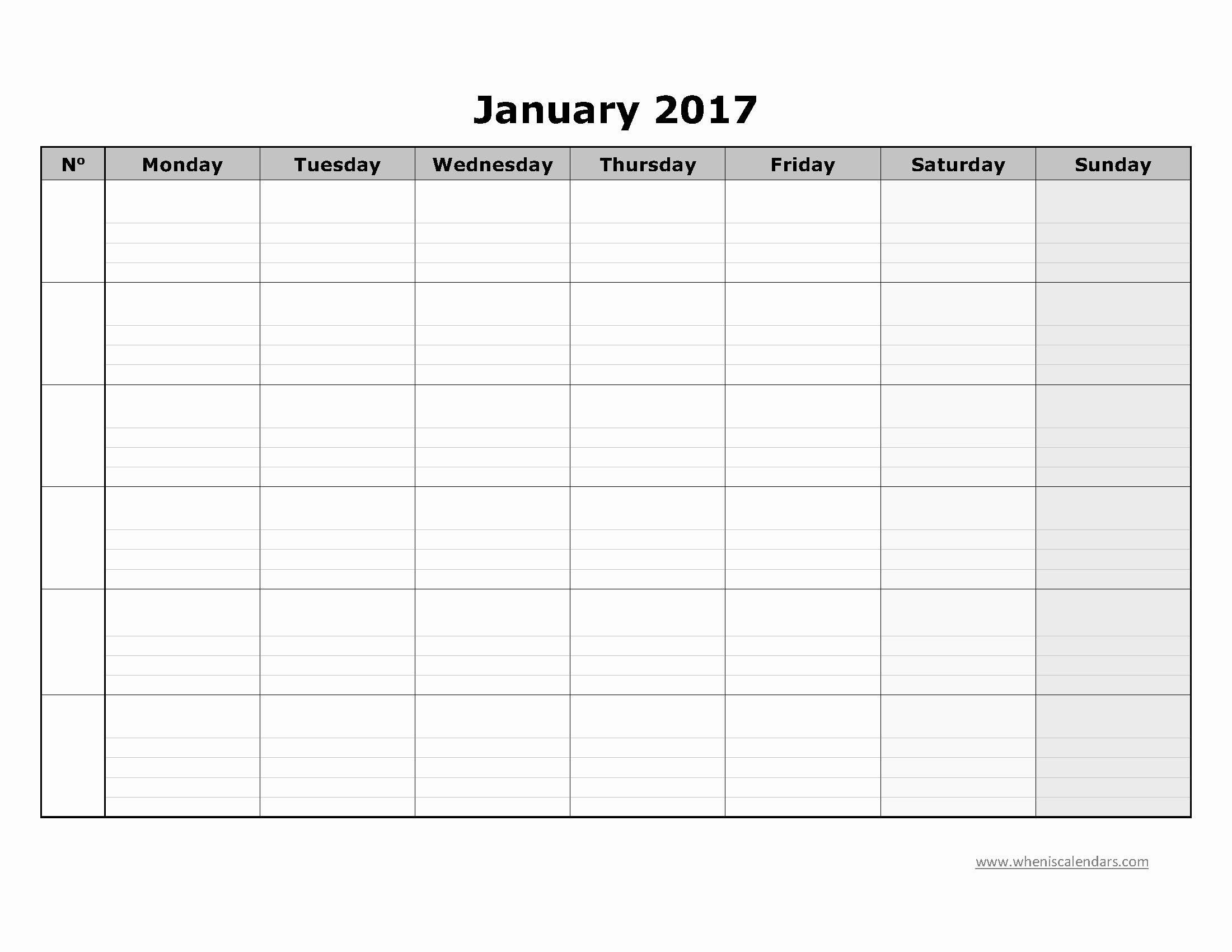 Blank May Calendar 2017 Printable New Blank January 2017 Calendar Templates Printable Pdf