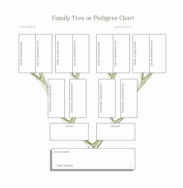 Blank Medical History form Printable Awesome Family Tree Template Free Printable Word Excel Pedigree