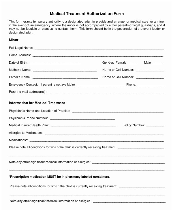 Blank Medical History form Printable Unique Medical form Pdf – Medical form Templates