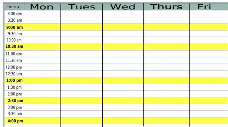Blank Monday Through Friday Calendar Beautiful Monthly Calendar Monday Friday